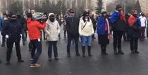 Protest mut in Piata Victoriei