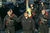 Jandarmul Raducu Serban, la parada de 1 Decembrie