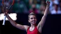 Simona Halep si bucuria victoriei