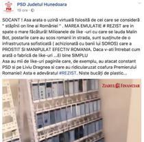 Manipulare PSD pe Facebook