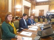 Bogdan Cojocaru (mijloc) si secretarii de stat din Comunicatii