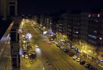 Iluminat public pe un bulevard din Bucuresti