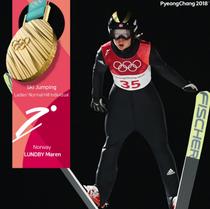 Maren Lundby, campioana olimpica la sarituri cu schiurile