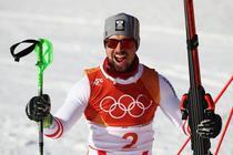 Marcel Hirscher, aur la combinata alpina de la JO 2018