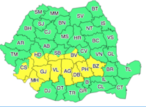 Harta 1 Cod galben de ninsori