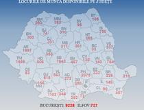 Harta locurilor de munca disponibile