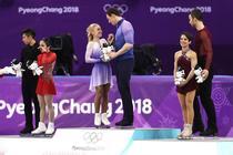Aliona Savcenko si Bruno Massot (centru), campioni olimpici pentru Germania la patinaj artistic