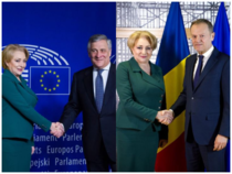 Viorica Dancila cu Tajani si Tusk