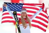 Lindsey Vonn, medalie de bronz la coborare