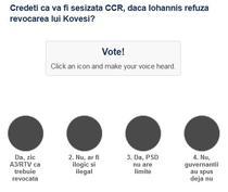 Sondaj sesizare CCR