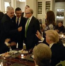 Liviu Dragnea si Sorin Grindeanu, la un eveniment cu Donald Trump