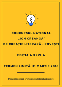 Inscrieri concurs de creatie literara