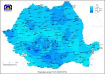 Temperaturile pe 1 martie 2018, la ora 7.00