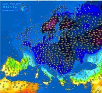 1 martie 2018 a adus temperaturi extrem de mici in toata Europa