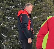 Klaus Iohannis, la schi