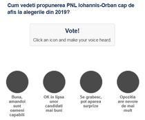 Sondaj candidati PNL la alegerille din 2019