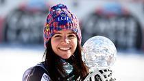 Tina Weirather, castigatoarea Globului de Cristal la slalom super-urias