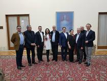 Adrian Nastase si Dumitru Prunariu la o conferinta despre relatiile romano-ruse