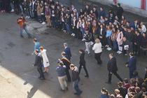 Elevii Colegiului Costache Negri din Targu Ocna