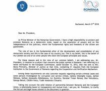 Scrisoarea Vioricai Dancila catre Jean-Claude Juncker
