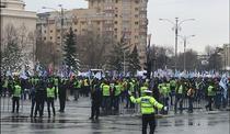 Protest politisti Piata Victoriei