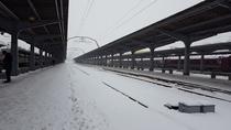 Iarna in Gara de Nord