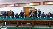 Imagine din debutul audierii de joi a Guvernatorului BNR