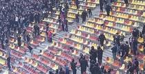 Jandarmii au intervenit la meciul CSA Steaua-Academia Rapid