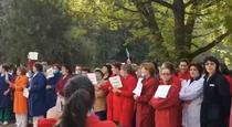 Protest la Spitalul de Pneumoftiziologie din Sibiu