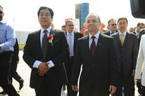 Wang Yan i Emil Boc, la inaugurarea China Town