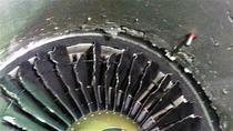 Motor de avion lovit de o pasare