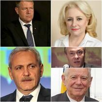 Iohannis/ Dancila/ Dragnea/ Melescanu/ Diaconescu