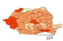 Distributia geografica a incidentei rujeolei 2016-2018