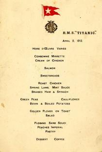 Meniu de pe Titanic