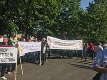 Protest la Gara de Nord