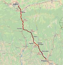 Autostrada A1 Sibiu - Pitesti - Traseul 2018