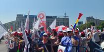 Protest Sanitas in Piata Victoriei