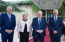 Liviu Dragnea, Viorica Dancila si Teodor Melescanu, la intalnirea cu presedintele Israelului, Reuven Rivlin