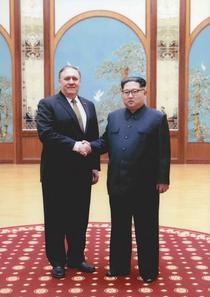 Mike Pompeo si Kim Jong-un