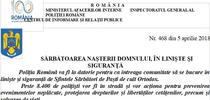 Gafa de comunicare a Politiei romane