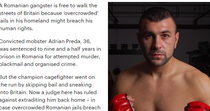 articol Daily Mail despre Adrian Preda