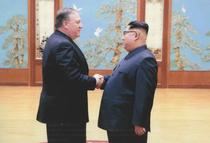 Mike Pompeo si Kim Jong Un