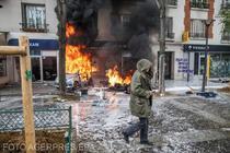 Ciocniri violente la Paris de 1 Mai