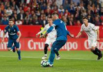 Sergio Ramos executa un penalty