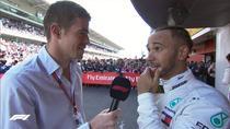 Lewis Hamilton, victorie la Barcelona