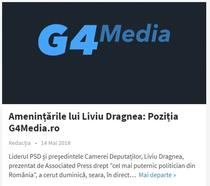 Pozitia G4Media.ro - Dragnea