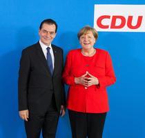 Ludovic Orban si Angela Merkel