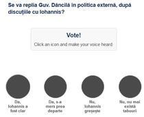 Sondaj Iohannis - politica externa