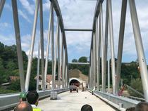 Podul in forma de arc de peste Tarnava Mare