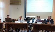 Traian Rotariu, Dumitru Sandu, Vasile Ghetau si Tudorel Andrei, la conferinta INS de miercuri